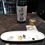 know by moto - [料理] チーズ4種・会津 中将 (ボトル & グラス) ②