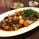 中華料理 八戒 - 合がけカリィ