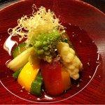 8961424 - 十五種類の野菜のお浸し