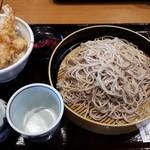 そば元本舗 - ミニ海老天丼&蕎麦大盛り