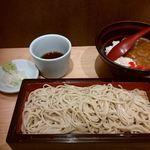 石臼挽き蕎麦とよじ - 朝セット(カレー)2018/06/14