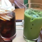 カフェ ベローチェ - コーヒーフロート&抹茶ラテ