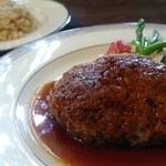 山の洋食屋 フレール - ハンバーグセットはパンか白米か玄米を選択可