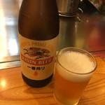 89631894 - お好み焼きにはビールがあいます。