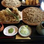 山都 - 料理写真:せいろ蕎麦+野菜てんぷら
