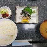 こじま食堂 - 2018年7月 いか刺身(定食) 1400円(時価)