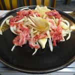 赤のれん - バラ焼き定食 900円(肉&玉ねぎ/焼く前)