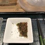 175°DENO〜担担麺〜 - 別皿の山椒