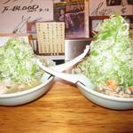 89634760 - 味噌ラーメンと味噌ラーメン野菜増し【2018年7月】