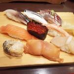 沼津魚がし鮨 - 三種盛を3種