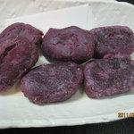 花しょうぶ - 紅芋の餅揚げ