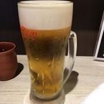 活鮮市場 - 「生ビール」470円也。