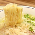 らーめん鱗 - 20180722塩らーめん・麺リフト