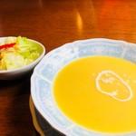 ステーキハウス K - ステーキランチ¥1500サラダとスープ