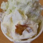 よってけポポラ - 料理写真:ジェラートダブル300円 東根産さくらんぼ、ずんだ