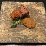東京肉割烹 西麻布 すどう - 和牛赤身 牛カツカレー