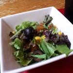 山形ステーキ&カフェレストラン 飛行船 - ドリンクセット(200円) サラダ