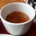 山形ステーキ&カフェレストラン 飛行船 - ドリンクセット(200円) スープ