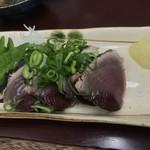 多田屋 - 鰹の刺身です。