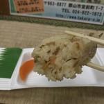 たけや - たけや(福島県郡山市堂前)味おこわおにぎり 120円