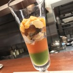 ビステッケリア エノテカ イル モーロ - ビステッケリア エノテカ イル モーロ(東京都中央区銀座)シェフのおまかせコース 季節の食材を使って 10,000円・冷たい前菜