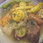 89650842 - 冷製牛スープとアイスパンプキン ポトフ・牛スネ肉 ¥2138