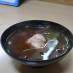 幸寿司 - 蛤、わかめ、三つ葉の赤出汁