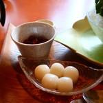 茶匠 清水一芳園 - 小豆煮、白玉、練乳