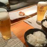 酉こう - ヱビスビール(グラス)