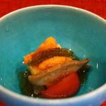 祇園もりわき - とうもろこし豆腐の加減酢ジュレがけアップ