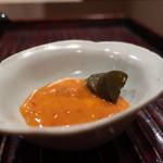 おが和 - 雲丹の塩辛 鮑の肝添え