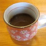 山県そば - 蕎麦湯コーヒー