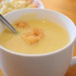 89660368 - スープ(ジャンボエビフライ定食)