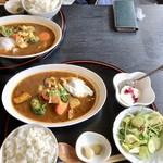 旬亭 - チキンスープカレー1100円