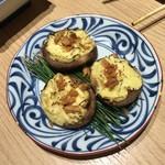 からり - 椎茸とクリームチーズ乗っけ的なうんたらかんたら(失念