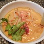 thi-shi-shi-ginzanoyoushoku - ラクサ 冷製のスープで暑い夏でも美味しく頂けます♪