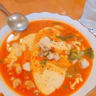 厨 Sawa - 料理写真:若鶏のトマトシチューのオムライス  1500円