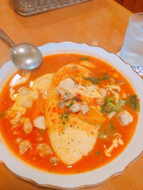 厨 Sawa - 若鶏のトマトシチューのオムライス  1500円
