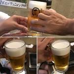 焼肉ホルモン せいご - 乾杯〜♫(なかなか持つ手が決まらない(笑))