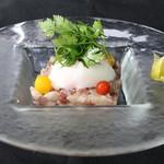 ル ベナトン - 鮮魚のタルタル 温泉卵