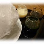 和食香穂 - ふわふわにかき氷に自分で仕上げるかき氷