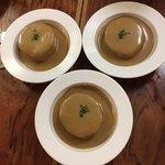 89671015 - ・フレンチおでん コンソメで柔らかく炊いた大根ポルチーニ茸クリームソース