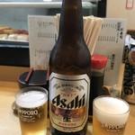 佐兵衛すし - ビール