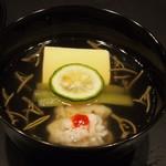 華泉 - お椀(鱧、蕗、玉子豆腐)