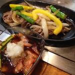たるや鉄板焼 - 薄切り牛肉のオロシポン酢 ¥1,200