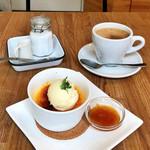 OTTO - クレームブリュレ(590円)/ ドリンクセット・コーヒー(+150円)
