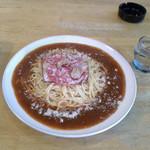 コーヒー&スパゲティ マローネ - 料理写真:ミラネーズ大盛りイタリアンソース
