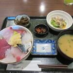魚屋 魚八 - 日替わり海鮮丼セット2018.07.23