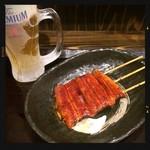 89699874 - 生ビール&うな串