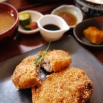 食・酒処こずち - 料理写真:メンチかつ定食